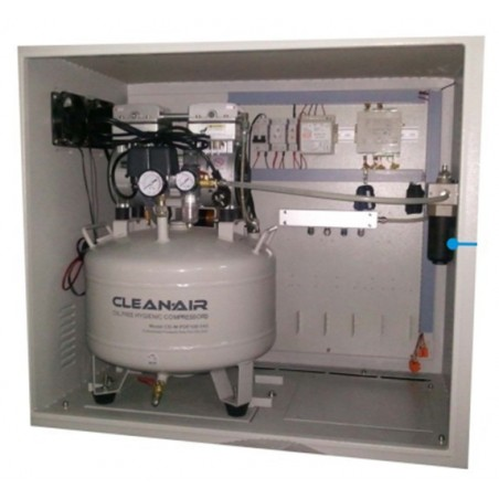 Styring til pnematisk pullert inkl. kompressor, PLC styring og ventiler. Kan styre op til 5 pullerter, 230V