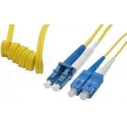 Singlemode LC-SC Easy Bend fiberkabel. Easy Bend, 9 µm, duplex, OS1, LSZH, LC-SC, 1 meter