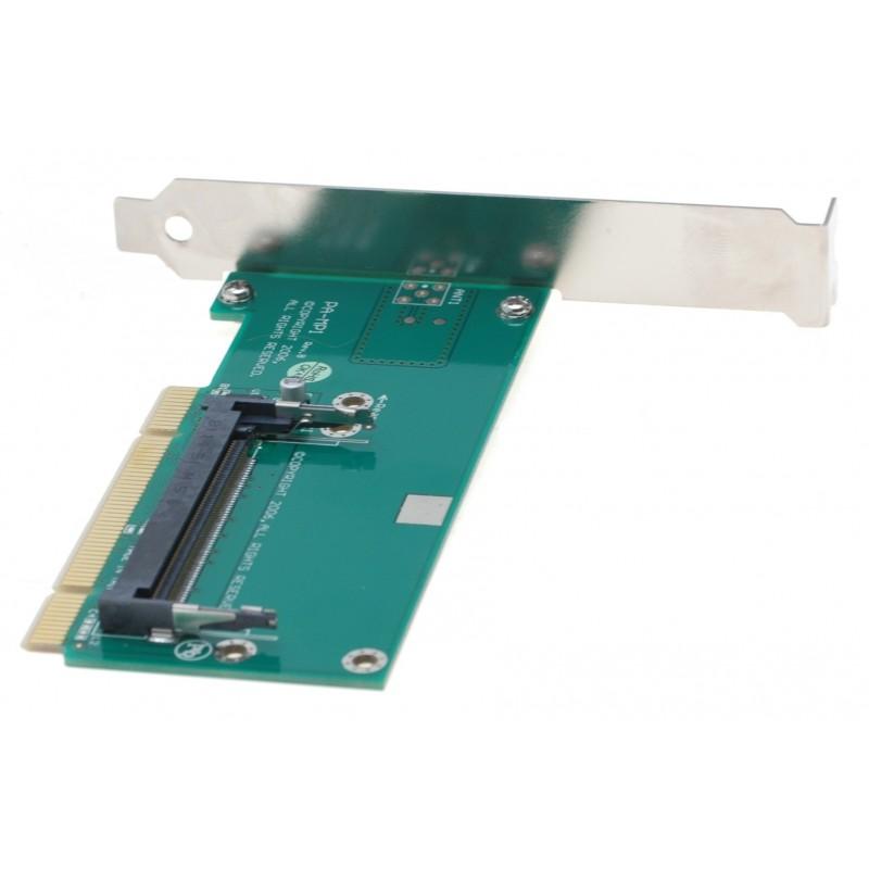 Mini-PCI Type III til PCI Adapter inkl bracket. Type III Mini-PCI kort til f.eks. trådløst LAN i standard PCI/PCI-X slot
