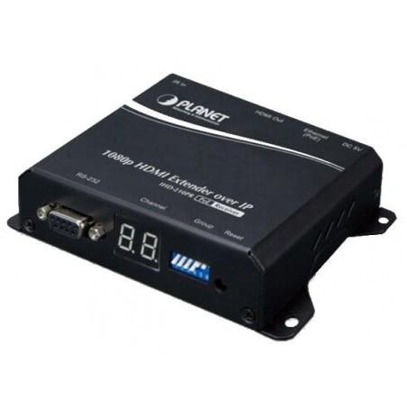 HD HDMI extender over IP eller direkte netværkskabel. Kan strømfødes med PoE - Digital Signage, modtagermodul