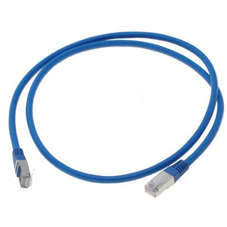 Cat. 6 netværkskabel, RJ45, STP, AWG28, blå, 1,0m