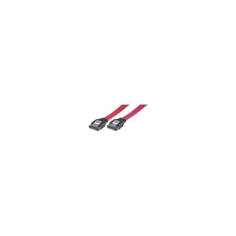 SATA kabel med låsemekanisme, længde ca. 27 cm