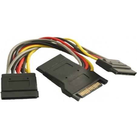 SATA kabel med 3x strømstik