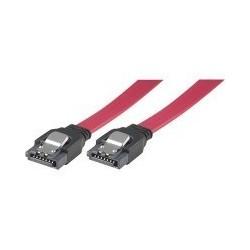 SATA kabel med låsemekanisme, længde ca. 75 cm