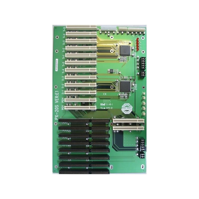 Passivt buskort med 12 PCI og 8 ISA
