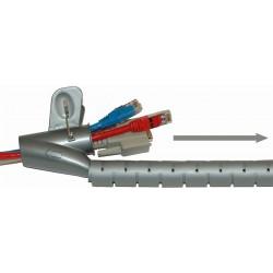 Spiralformet kabelsamler