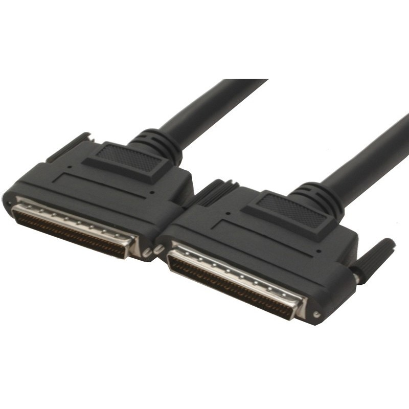 Wide SCSI LVD kabel, ½ meter. Mini DB68 han – Mini DB68 han