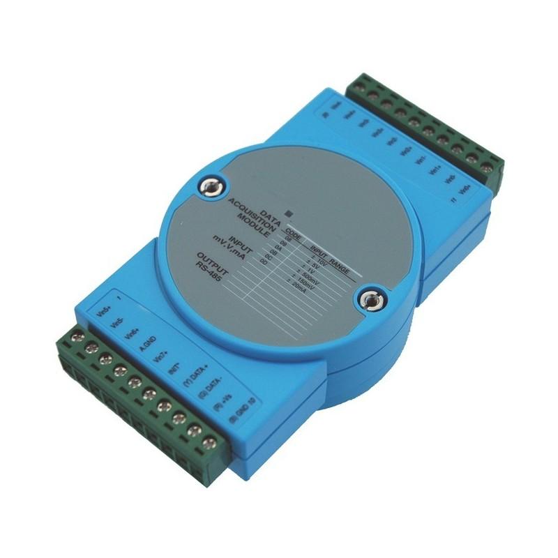 8 x analoge indgange, maks. +/-10 volt, 16bit, RS485 - ADAM