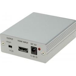 HDMI til VGA + component konverter. Sender lyden ud på separat minijack