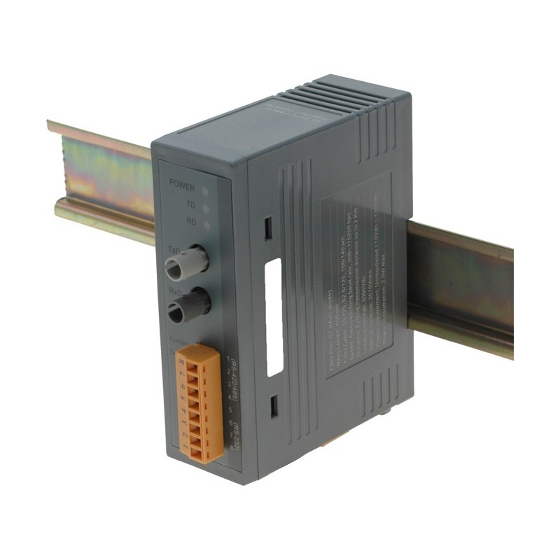 RS232-422-485 til lysleder-fiber til DIN skinne