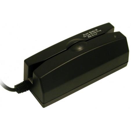 Magnetkortlæser med USB interface til sygesikring, medlemskort mm, sort