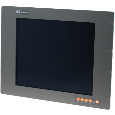 "19"" IP65 Panel mount LCD touch monitor, VGA, DVI"