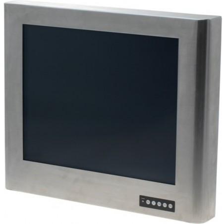 """19"""" TFT monitor i rustfrit ståkabinet, IP65 tæt på alle sider med touch"""