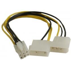 SATA strømadapter. Konverter 2 x Molex han 6 polet PCIE