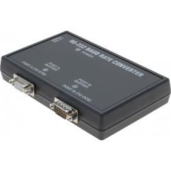 RS232 baud rate konverter. Kan ændre baud rate, data-format og handshake på den serielle port