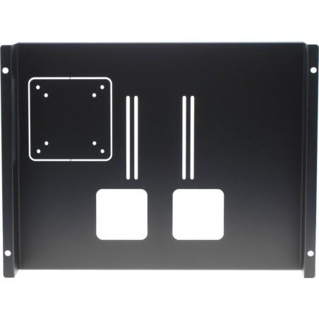 """19"""" Rack monitor-holder til 15"""" - 19"""" LCD, sort, VESA75/100"""