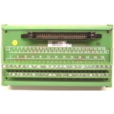 Adlink DIN-50P-01. Terminalkort med 50 skrueterminaler
