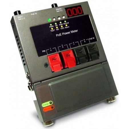 test PoE strømforsyningen. test effekten af PoE over maks. 100 meter netværkskabel