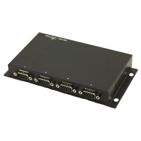 USB til 4 x RS232 porte - USB kabel medfølger