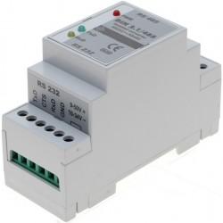 Isoleret RS232 « RS485 konverter til DIN-skinne montage