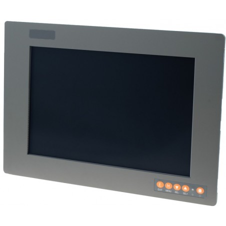"12"" IP65 Panel mount LCD touch monitor, VGA, DVI, Composite"