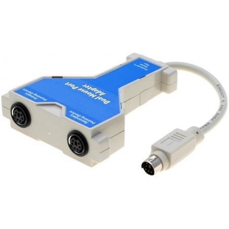 2 x PS/2 mus til 1 x PS/2 indgang - understøtter trådløse mus