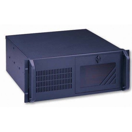 """4U 19"""" PC-kabinet, ATX, sort, ekstra dyb, 5 x 3.5"""" HDD internt"""