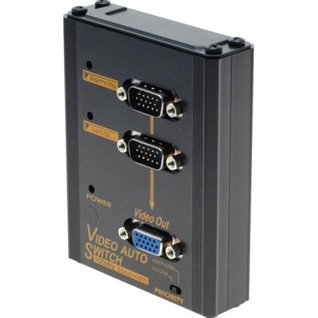 Automatisk omskifter mellem 2 VGA-signalkilder, med prioritering