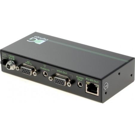 Senderboks med VGA ind, lokal VGA ud, med 1 x RJ45 udgang. Passer kun til VGA-MULTI-M+ modtageren