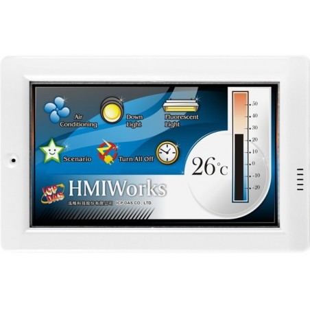"""HMI panel med 4,3"""" TFT skærm, touch, netværk og RS485"""