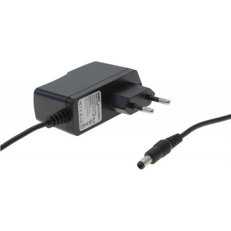 9 VDC / 200mAmp. (1,8 W), netadapter, stik: 3.5 / 1,3mm, ikke switchmode