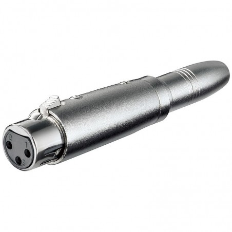 XLR adapter 3-pin XLR jack hun – 6,35 mm mono jack han