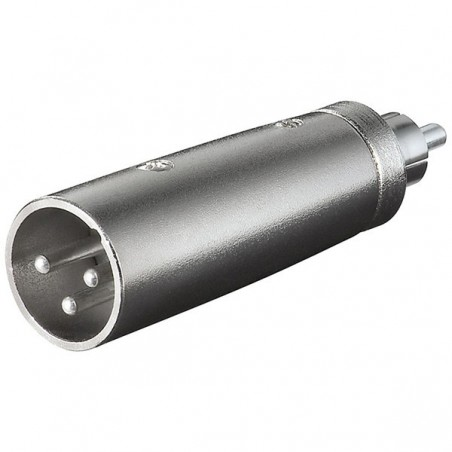 XLR adapter 3-pin XLR han – RCA han