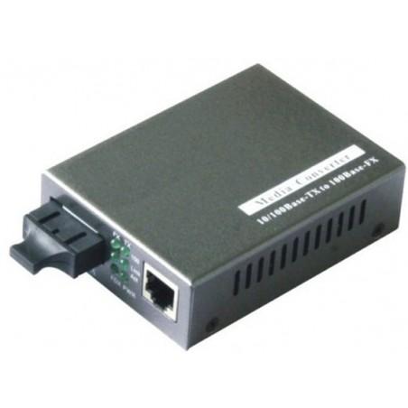 Mediekonverter RJ45 til 1000Mbit Single Mode Fiber, SC, 50km