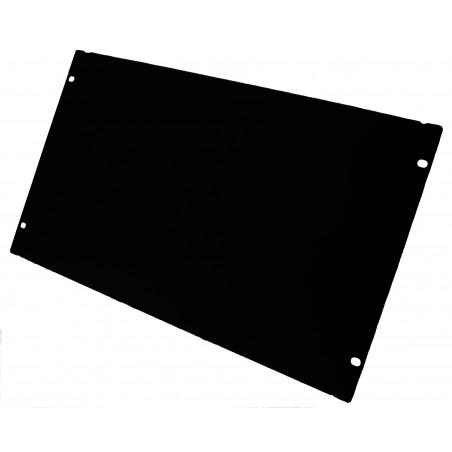 """6U blindplade. Til 19"""" rackskab, sort"""