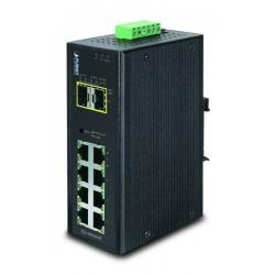 10 ports Gbit switch 8 x RJ45 + 2 x SFP - Managed, 12-48VDC, 24VAC