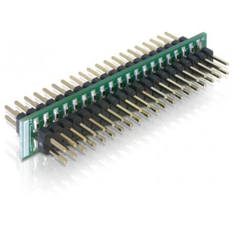 """40 pins han/han adapter til 3½"""" FLASHIDE til fladkabel med hun-stik"""
