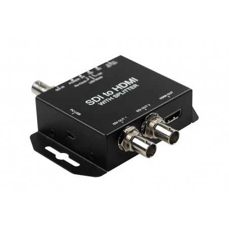 SDI til HDMI konverter. Tilslut et kamera med SDI på en HDMI skærm, overfører lyd