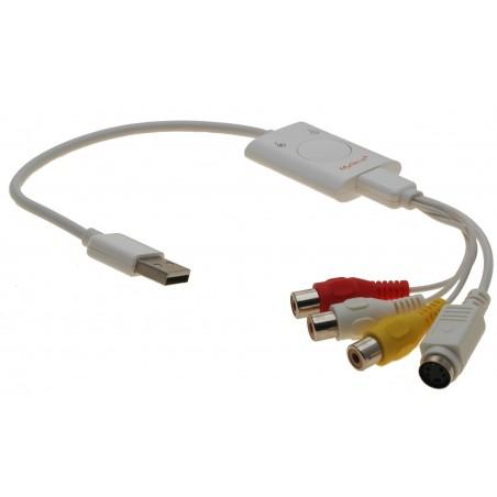 Composite Video grabber med lyd til USB. Også til S-VHS. Overspil video til PCen