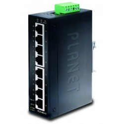 8 ports Gigabit switch 10/100/1000 DIN -40-75° - Managed, 12-48VDC, 24VAC