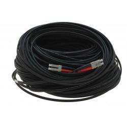 Fiberoptisk kabel med fleksibel armering af rustfrit stål - multimode LC, 100 meter