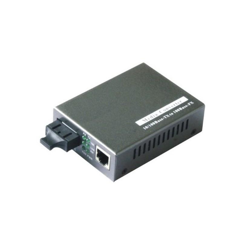Mediekonverter RJ45 til 1000Mbit Single Mode Fiber, SC, 10km