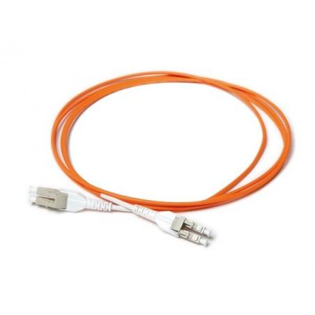 LC SPC uniboot 50-125µm multimode fiberkabel, LSFRZH kappe, Duplex 1,0 meter