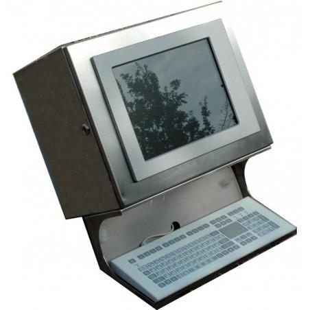 Panel PC stålkabinet m.tastatur
