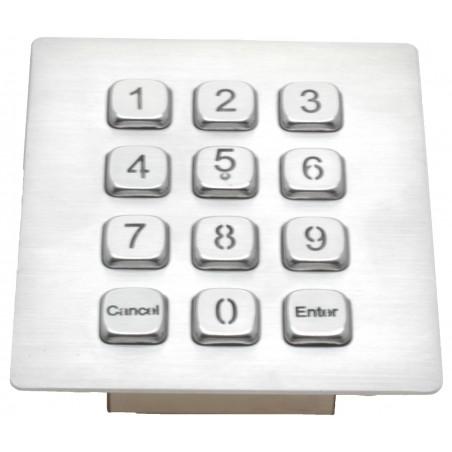 Keypad i stål med backlight - RS232