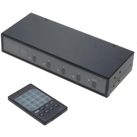 2 x 4 VGA matrix med lyd, inkl. fjernbetjening