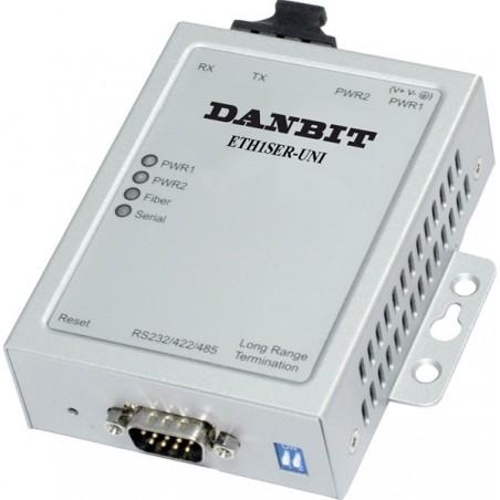 1 port serieportserver via Single Mode fiber, RS232/RS422/RS485, op til 30km