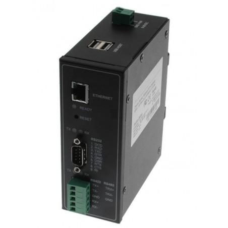 2 ports MODBUS serielportserver med 1 x RS232 + 1 x RS422/RS485