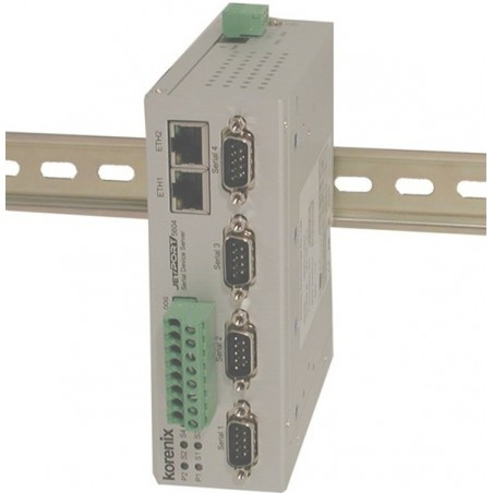4 ports serielportserver, RS232/RS422/RS485 isoleret