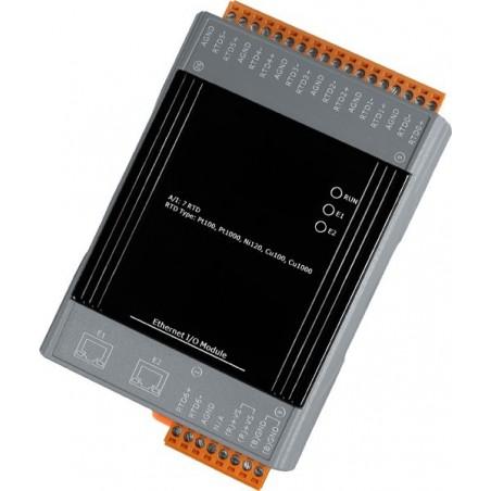 7 x indgange til termoføler (differential), indbygget 2 port LAN switch, 10-30VDC